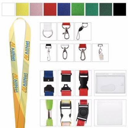 "Picture of 5/8"" Polyester 4 Color Lanyard"