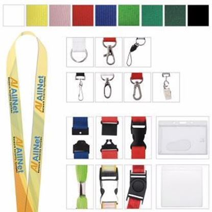 "Picture of 1"" Polyester 4 Color Lanyard"